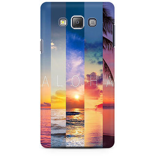 RAYITE Aloha Premium Printed Mobile Back Case Cover For Samsung A7