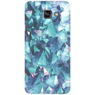 RAYITE Blue Granite Premium Printed Mobile Back Case Cover For Samsung A7 2016