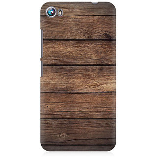 RAYITE Classic Wood Premium Printed Mobile Back Case Cover For Micromax Canvas Fire 4 A107