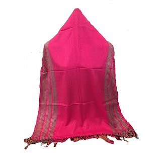 Beutiful Pure Viscose Stole in Pink