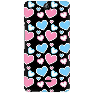 RAYITE Colourful Hearts Premium Printed Mobile Back Case Cover For Micromax Canvas Juice 3 Q392