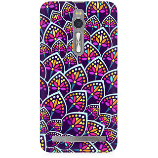RAYITE Geometric Leaf Premium Printed Mobile Back Case Cover For Asus Zenfone 2