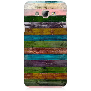 RAYITE Vintage Wood Premium Printed Mobile Back Case Cover For Samsung A8