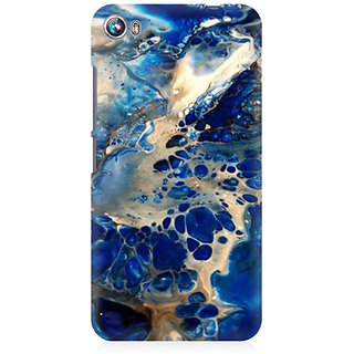 RAYITE Blue Sea Marble Premium Printed Mobile Back Case Cover For Micromax Canvas Fire 4 A107