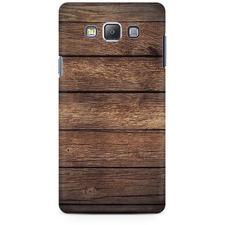 RAYITE Classic Wood Premium Printed Mobile Back Case Cover For Samsung On7