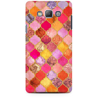 RAYITE Colourful Indian Pattern  Premium Printed Mobile Back Case Cover For Samsung On7