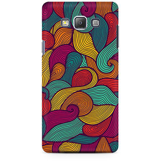 RAYITE Colourful Waves Premium Printed Mobile Back Case Cover For Samsung On7