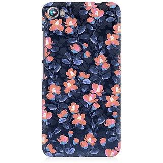 RAYITE Glowing Floral Premium Printed Mobile Back Case Cover For Micromax Canvas Fire 4 A107