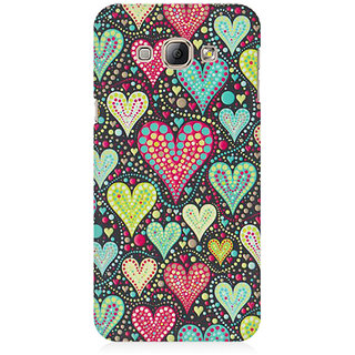 RAYITE Hearts Pattern Premium Printed Mobile Back Case Cover For Samsung A8