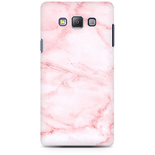 RAYITE Pink Marble Premium Printed Mobile Back Case Cover For Samsung On7
