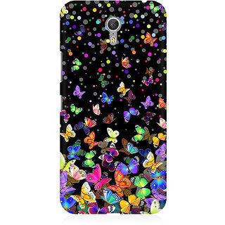 RAYITE Colourful Butterfly Pattern Premium Printed Mobile Back Case Cover For Lenovo Zuk Z1