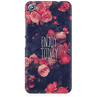 RAYITE Enjoy Today Premium Printed Mobile Back Case Cover For Micromax Canvas Fire 4 A107