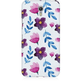RAYITE Watercolor Leaf And Flower Premium Printed Mobile Back Case Cover For Lenovo Zuk Z1