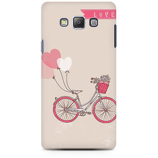 RAYITE Love Bicycle Premium Printed Mobile Back Case Cover For Samsung On7
