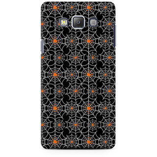 RAYITE Spider Webs Pattern Premium Printed Mobile Back Case Cover For Samsung On7