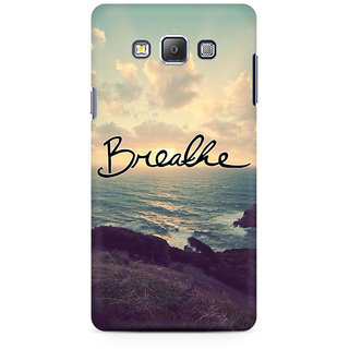 RAYITE Breathe Premium Printed Mobile Back Case Cover For Samsung On7