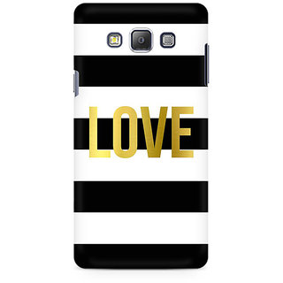 RAYITE Love Abstract Premium Printed Mobile Back Case Cover For Samsung On5 Pro