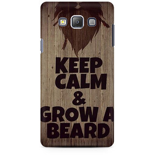 RAYITE Beard  Premium Printed Mobile Back Case Cover For Samsung On5 Pro
