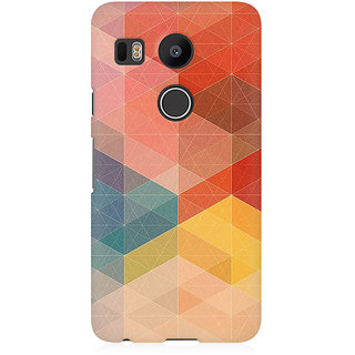 RAYITE Colourful Geometric Pattern Premium Printed Mobile Back Case Cover For LG Nexus 5X