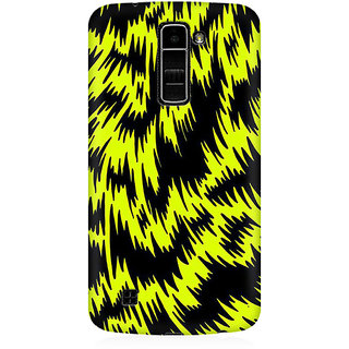 RAYITE Yellow Cheetah Pattern Premium Printed Mobile Back Case Cover For LG K7