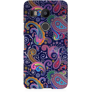 RAYITE Blue Embroidery Premium Printed Mobile Back Case Cover For LG Nexus 5X