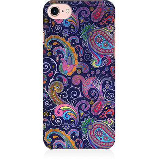 RAYITE Blue Embroidery Preum Printed Mobile Back Case Cover For   7