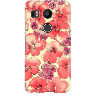 RAYITE Watercolor Flower Abstract Premium Printed Mobile Back Case Cover For LG Nexus 5X