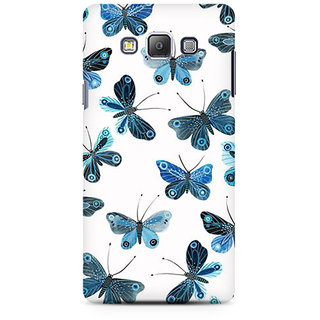 RAYITE Blue Butterfly Premium Printed Mobile Back Case Cover For Samsung A7