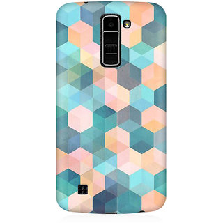 RAYITE Hexagon Pattern Premium Printed Mobile Back Case Cover For LG K10