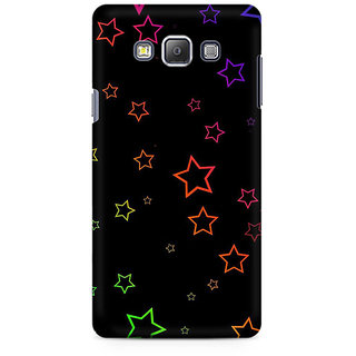 RAYITE Glowing Stars Premium Printed Mobile Back Case Cover For Samsung A7