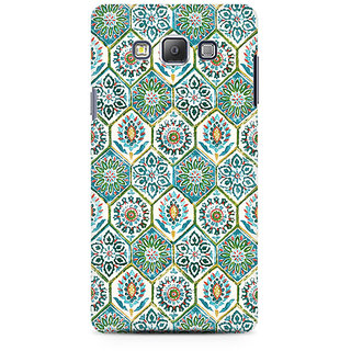 RAYITE Vintage Embroidery Pattern Premium Printed Mobile Back Case Cover For Samsung A7
