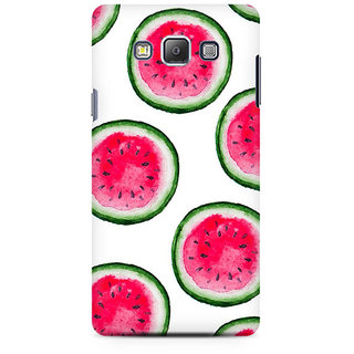 RAYITE Watercolor Watermelon Pattern Premium Printed Mobile Back Case Cover For Samsung A7