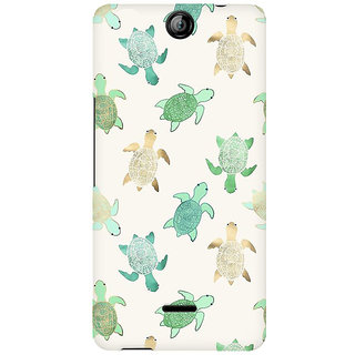 RAYITE Watercolor Turtle Premium Printed Mobile Back Case Cover For Micromax Canvas Juice 3 Q392