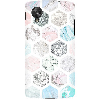 RAYITE Colourful Marble Abstract Premium Printed Mobile Back Case Cover For LG Nexus 5