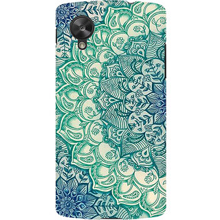 RAYITE Mandala Abstract Premium Printed Mobile Back Case Cover For LG Nexus 5