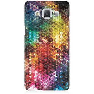RAYITE Colourful Glitter Print Art Premium Printed Mobile Back Case Cover For Samsung A5