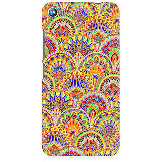 RAYITE Glow Mandala Pattern Premium Printed Mobile Back Case Cover For Micromax Canvas Fire 4 A107