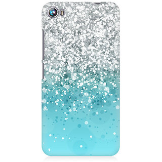 RAYITE Glitter Print Pattern Premium Printed Mobile Back Case Cover For Micromax Canvas Fire 4 A107