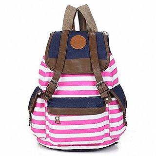 8cece3ddab Canvas Backpack School Bag College Laptop Bag Girls Boys Students Pink