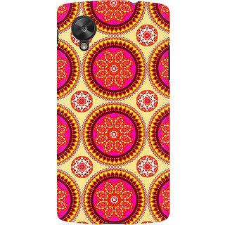 RAYITE Mandala Pattern Premium Printed Mobile Back Case Cover For LG Nexus 5