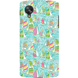 RAYITE Yatch Pattern Premium Printed Mobile Back Case Cover For LG Nexus 5