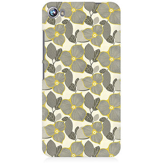 RAYITE Gold Floral Premium Printed Mobile Back Case Cover For Micromax Canvas Fire 4 A107
