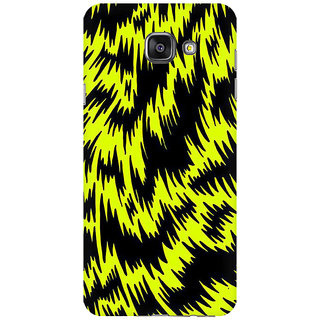 RAYITE Yellow Cheetah Pattern Premium Printed Mobile Back Case Cover For Samsung A7 2016