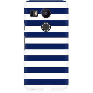 RAYITE White And Blue Premium Printed Mobile Back Case Cover For LG Nexus 5X