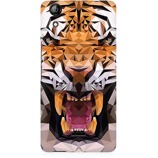 RAYITE Geometric Tiger Premium Printed Mobile Back Case Cover For Micromax Canvas Selfie 2 Q340