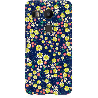 RAYITE Flower Hub Pattern Premium Printed Mobile Back Case Cover For LG Nexus 5X