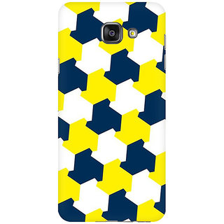 RAYITE Yellow Blue Geometric Premium Printed Mobile Back Case Cover For Samsung A5 2016