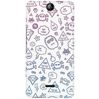 RAYITE Emoji Symbols Premium Printed Mobile Back Case Cover For Micromax Canvas Juice 3 Q392