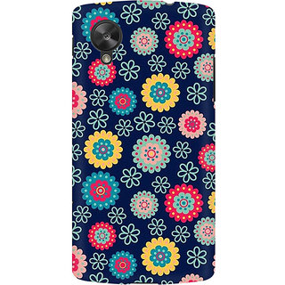 RAYITE Cute Flower Print Premium Printed Mobile Back Case Cover For LG Nexus 5