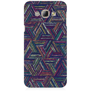 RAYITE Geometric Cross Art Premium Printed Mobile Back Case Cover For Samsung A8